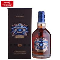【1919酒类直供】40度芝华士18年苏格兰威士忌 700ml