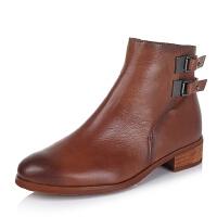 BATA/拔佳专柜同款牛皮女短靴AJ451CD5