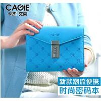 卡杰A6时尚创意手包式记事本子精致密码锁活页笔记本日记本密码本
