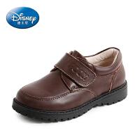 迪士尼小熊维尼童鞋 男童皮鞋2017春夏新款3-12岁儿童皮鞋学生鞋英伦风休闲鞋