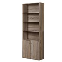 [当当自营]慧乐家 书柜书架 鲁比克六层带门组合储物收纳柜子 层板可调节置物柜 法国香樟木色 11309-3