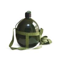 谋福 铝制2L大容量背水壶 军绿色老式水壶 户外军用水壶 军训水壶 登山水壶 军绿色 2L