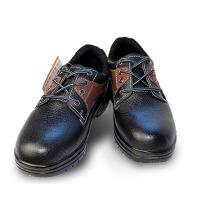 孚晟 户外钢头安全劳保鞋 防穿刺 耐油 牛皮 透气 拼接棕色
