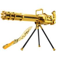 宜佳达 玩具枪 可发射水晶弹子弹连发软弹 电动狙击枪玩具 加特林土豪金308