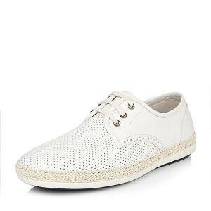 Belle/百丽春季专柜同款时尚休闲牛皮男皮鞋(冲孔)B9Z02AM6小白鞋运动鞋女小白鞋女