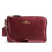 【当当自营】蔻驰(COACH)新款女士交叉纹皮革手腕包钱包零钱包  58032