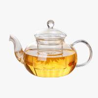 当当优品 灵香玻璃茶壶 手工吹制 高硼硅玻璃 加厚 茶具 600ML
