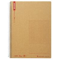 日本maruman美乐麦 spiral牛皮纸封面螺旋笔记本 记事本 方格本B5