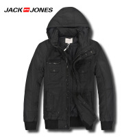杰克琼斯秋冬季男士简约纯色修身休闲百搭棉服31-1-1-211422015010