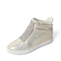 Teenmix/天美意春季专柜同款/浅黄/杏色山羊皮革女靴6QJ45AD6