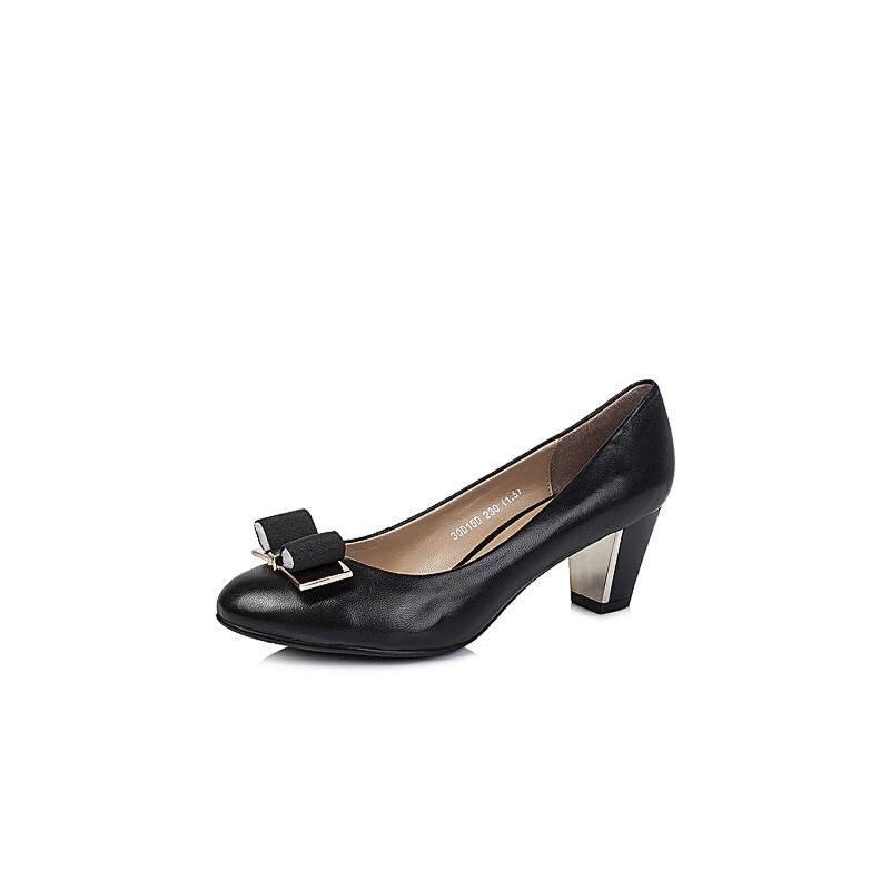 女鞋 单鞋 森达单鞋 senda/森达秋季专柜同款羊皮浅口女单鞋3qd15cq5图片