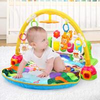 优乐恩 新生婴儿音乐健身架脚踏钢琴 宝宝游戏垫摇铃牙胶儿童玩具
