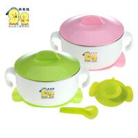 贝贝鸭吸盘碗 婴儿童餐具 宝宝餐具套装 附送婴儿勺子