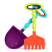美国B.Toys 挖沙玩具 耙子铲子儿童沙滩玩具 宝宝戏水玩沙工具