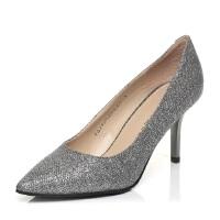 Tata/他她春季专柜同款贴网亮片布女单鞋2V905AQ5