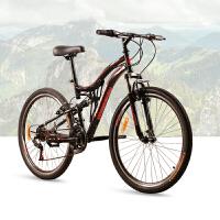 【618年中促】耐嘛自行车 26寸力学设计前后避震21速男女山地车