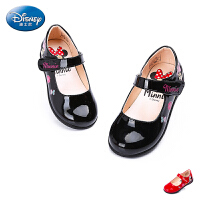 迪士尼2016新秋正品女童鞋中童女时尚小皮鞋学生鞋米奇灯鞋DS1938