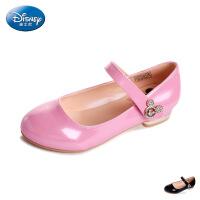 disney/迪士尼2016正品新款中大童女童鞋时小高跟皮鞋舞蹈鞋秋
