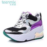 Teenmix/天美意 秋专柜同款牛皮时尚新潮女单鞋6H720DM5