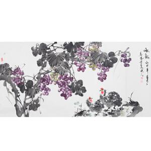 中国传统文化交流协会常务副会长姜凤  《秋韵》