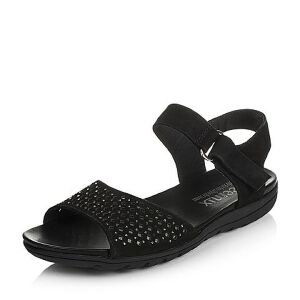 Teenmix/天美意夏季专柜同款磨砂牛皮女凉鞋6K604BL6