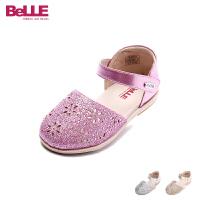 百丽童鞋儿童皮鞋2017夏季新款婴幼童学步鞋宝宝鞋单鞋女童走路鞋DE5835