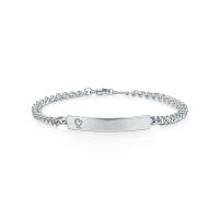 【当当自营】 蒂芙尼(Tiffany & Co.) 新款纯银细链手牌手链