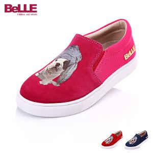 Belle/百丽童鞋2016秋冬季儿童休闲旅游鞋狗狗鞋面卡通女童鞋 DE0187