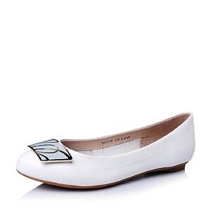 BASTO/百思图春季专柜同款羊皮优雅尖头女单鞋TCY39AQ6