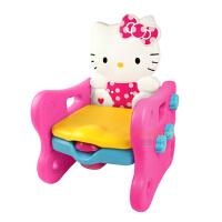麦宝创玩 防溅音乐多功能 贝氏特大号kitty凯蒂猫儿童座便器小马桶坐便器宝宝婴儿便盆 HelloKitty宝宝座便器是凳子还可折叠