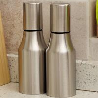 【可货到付款】欧润哲 2只套装 不锈钢油壶防漏 创意防尘厨房酱油瓶醋瓶调味罐 500ml