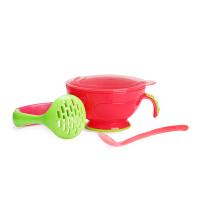 美国nuby婴儿研磨器 宝宝食物研磨碗 手动辅食工具 水果泥研磨器