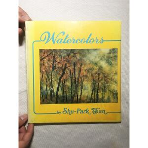 陈济棠儿子 陈树柏签名本 watercolors by shu-park chen 精装画册彩色