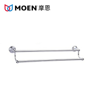 MOEN/摩恩 铜镀铬 卫生间挂件 浴室挂件 双杆毛巾杆 90021