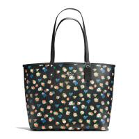 【当当自营】蔻驰(COACH)新款女士玫瑰花卉涂层帆布手提包双面包子母包女包  F57668