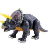 文盛 电动恐龙玩具 仿真恐龙 男孩玩具逼真会走路有声光 三角龙5301