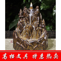 倒流香炉陶瓷仿古檀香炉熏香炉佛教香道书房用品风水摆件