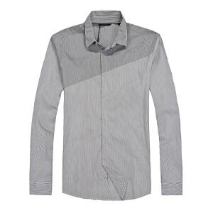 杰克琼斯 秋季 男士长袖衬衫 格子衬衣-19-4-2-213105017010