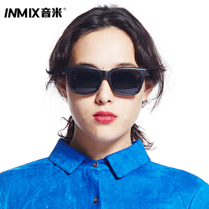 inmix音米复古大框太阳镜 防紫外线潮人墨镜 男士时尚款太阳眼镜