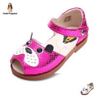 暇步士Hush Puppies童鞋小中童时装凉鞋小狗女童凉鞋女孩夏季休闲鞋DP9064