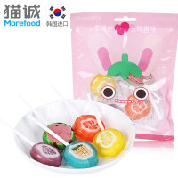 韩国进口 Groovypop水果味棒棒糖70g 休闲下午茶零食糖果礼物