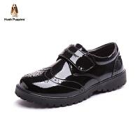 暇步士童鞋黑皮鞋17年春夏英伦风演出鞋中大童韩版学生童鞋单鞋潮 DP9082