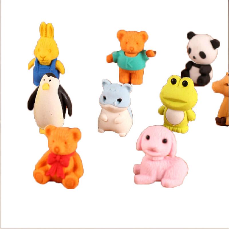 可爱卡通立体造型 小动物橡皮 橡皮擦 可爱卡通橡皮擦 奖品 礼品盒装