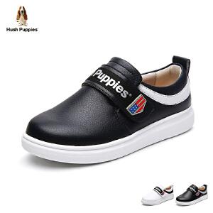 暇步士童鞋2017年夏季新款休闲鞋男童女童板鞋中大童魔术贴学生鞋 DP9044