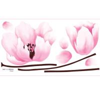 享家韩国进口贴纸SWST-10花婚房卧室温馨浪漫客厅电视背景贴画 环保墙贴 贴纸 墙贴纸