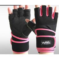 女透气护腕哑铃训练举重防滑护具  健身手套男士半指运动手套
