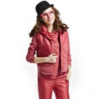 秋冬加厚三件套棉裤棉衣大码女装运动服休闲女士套装保暖皮裤