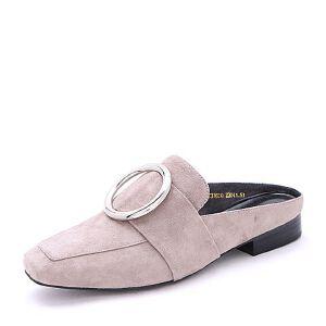 Belle/百丽2017春时尚穆勒鞋羊绒皮女单鞋31601AH7