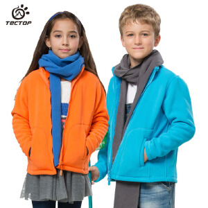 TECTOP 2015新品户外儿童保暖防风开衫抓绒衣 JW5145