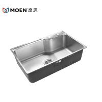 MOEN/摩恩 304不锈钢一体成型厨房单水槽厨盆 厨房洗菜盆22179